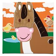 Studio Arts Kids Animal Farm Horse Wall Art