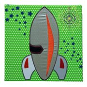 Studio Arts Kids Outer Space Rocket Ship Wall Art