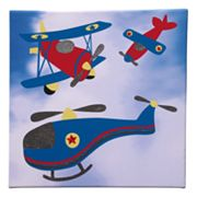 Studio Arts Kids Transporters Blue Helicopter Wall Art