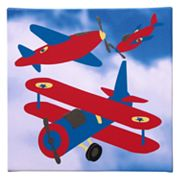 Studio Arts Kids Transporters Red Wing Plane Wall Art