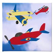 Studio Arts Kids Transporters Yellow Wing Plane Wall Art