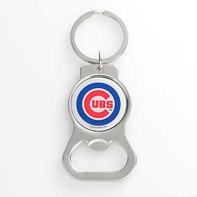 Chicago Cubs Silver Tone Bottle Opener Key Chain
