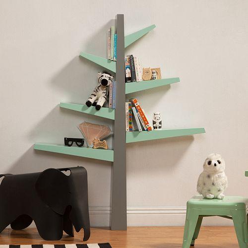 bookcase spacious corner tree itm livingroom display storage loading is furniture wood shelves image s