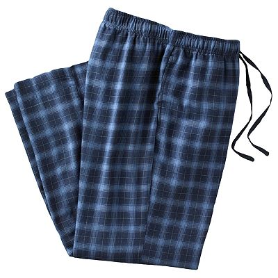 Croft and Barrow Plaid Flannel Lounge Pants - Big and Tall