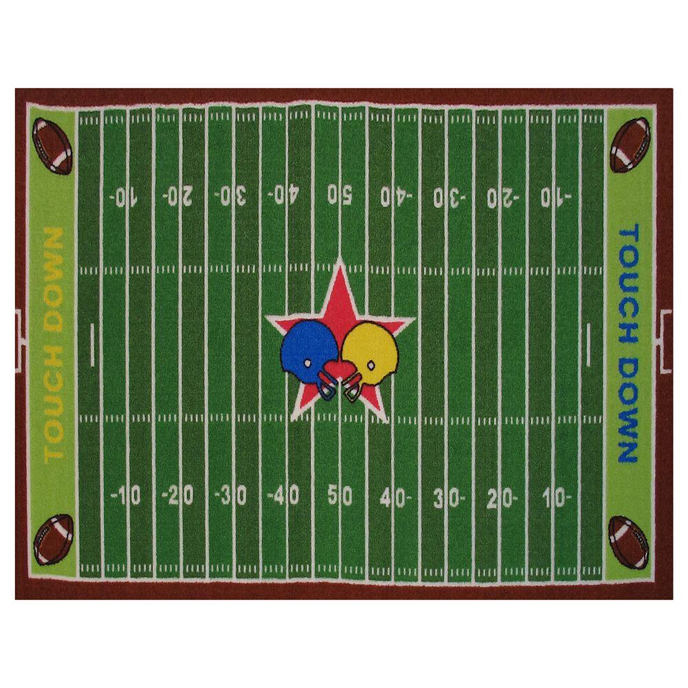 Fun Rugs Fun Time Football Field Rug - 3'3'' x 4'10''