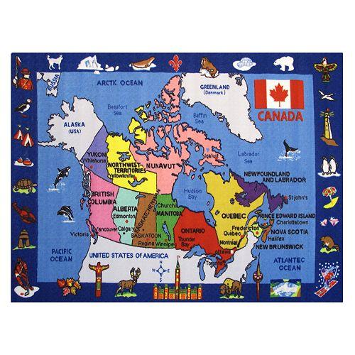 Fun Rugs Fun Time Map of Canada Rug - 4'3'' x 6'6''