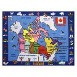 Fun Rugs Fun Time Map of Canada Rug - 5'3'' x 7'6''