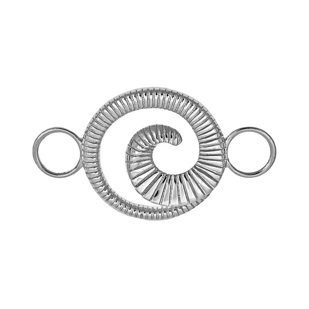 Loopz Sterling Silver Ribbed Swirl Clasp
