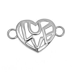 Loopz Sterling Silver 'Love' Heart Clasp