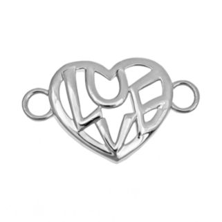 Loopz Sterling Silver Love Heart Clasp