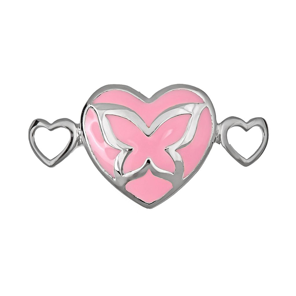 Loopz Sterling Silver Butterfly Heart Clasp