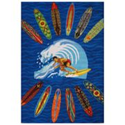 Fun Rugs Surf Time Surfer Dude Rug