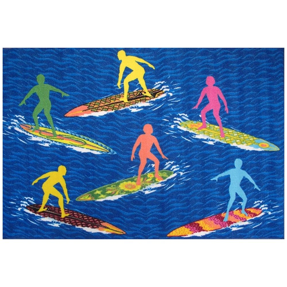 Fun Rugs Surf Time Surfers Rug