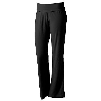Tek Gear Fit and Flare Fold-Over Performance Yoga Pants