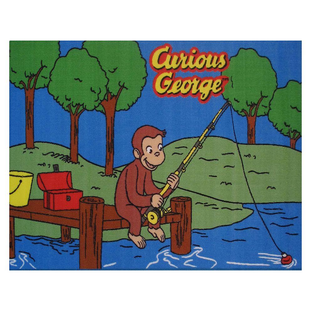 Fun Rugs Curious George Fishing Rug - 4'3'' x 6'6''