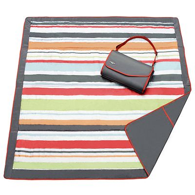 JJ Cole Striped Fold-Up Outdoor Blanket