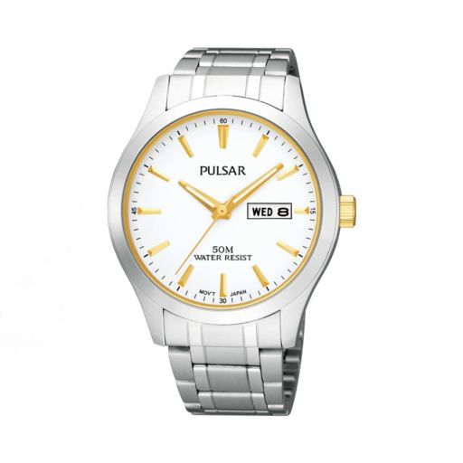 Pulsar Men's Two Tone Stainless Steel Watch - PV3015X