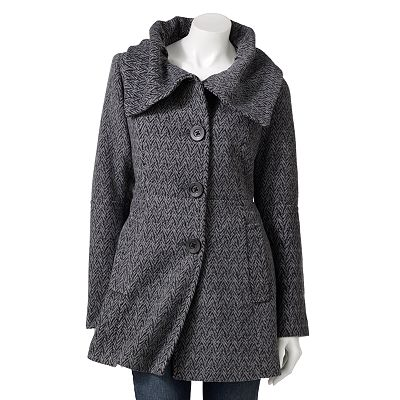 Apt. 9 Herringbone Wool Coat