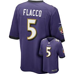Men's Nike Baltimore Ravens Joe Flacco Game NFL Replica Jersey