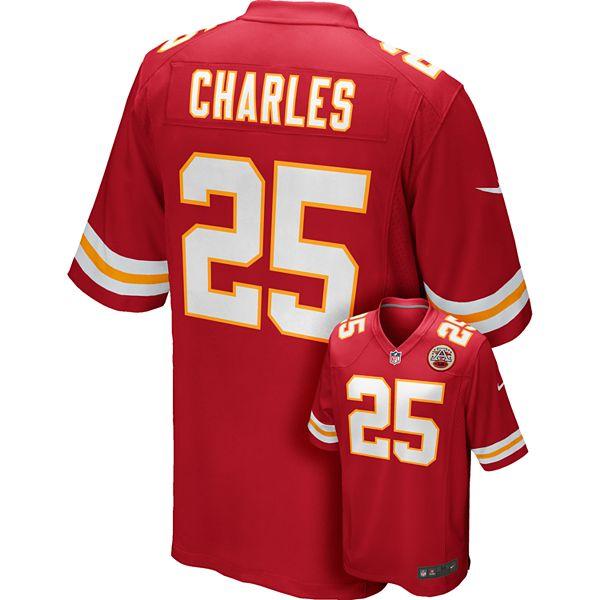 Men's Nike Kansas City Chiefs Jamaal Charles Game NFL Replica ...