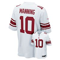 Men's Nike New York Giants Eli Manning Game NFL Replica Jersey