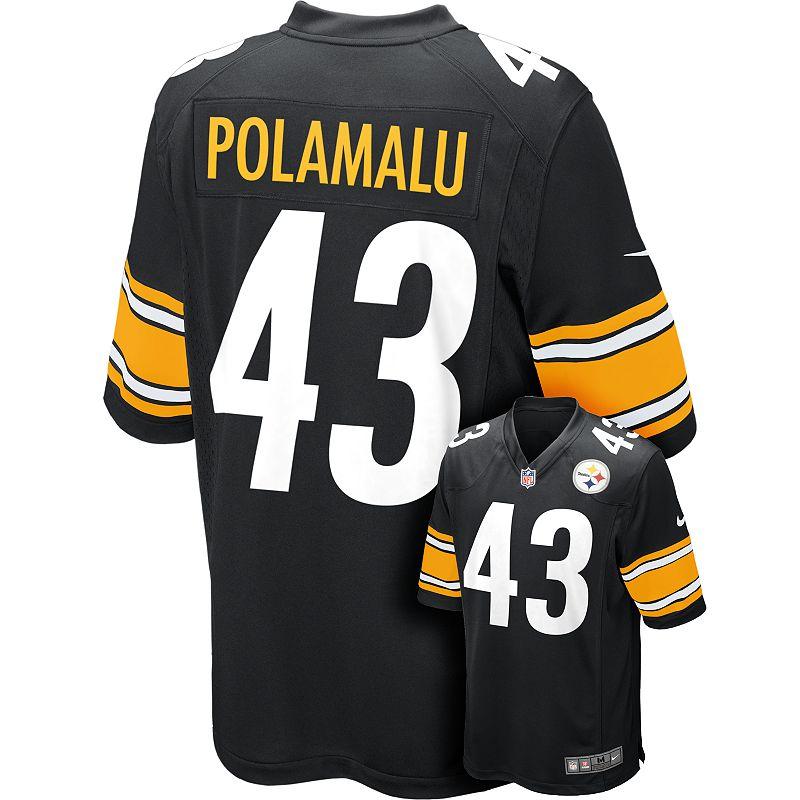 Nike Pittsburgh Steelers Troy Polamalu Game NFL Replica Jersey - Men