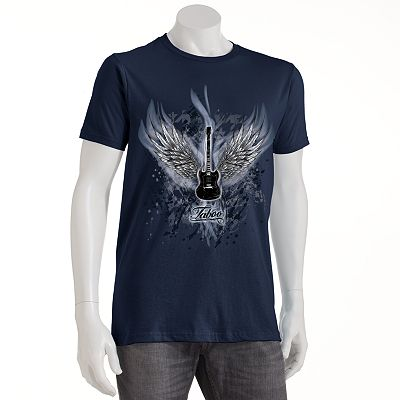 Taboo Winged Guitar Fire Tee
