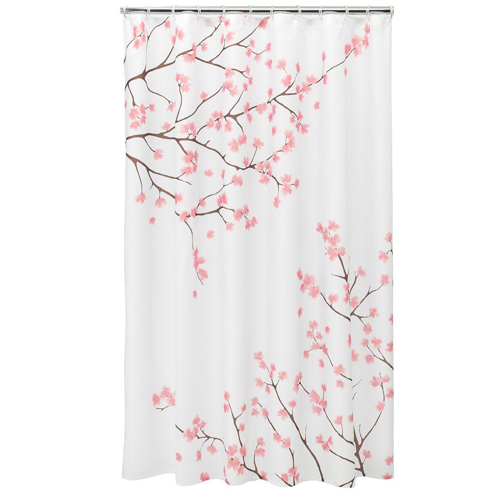 Home Classics® Cherry Blossom Fabric Shower Curtain