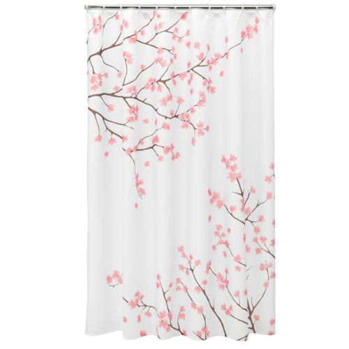 Sears Fabric Shower Curtains Blue and White Fabric by the