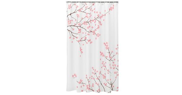 Shower Curtains cherry blossom shower curtains : Home Classics® Cherry Blossom Fabric Shower Curtain