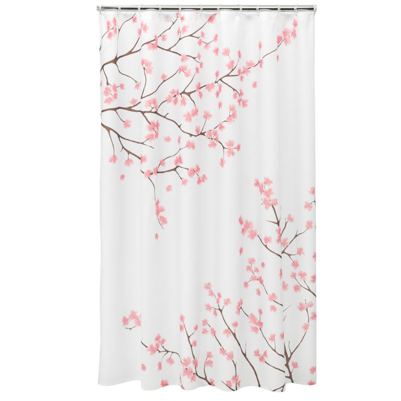 Cherry blossom fabric shower curtain this home classics shower curtain
