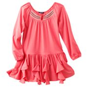 Chaps Smocked Ruffled Dress - Girls 4-6x