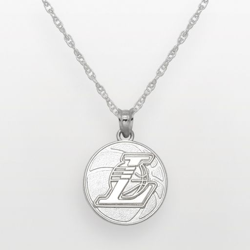 Los Angeles Lakers Sterling Silver Logo Pendant