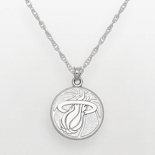 Miami Heat Sterling Silver Logo Pendant