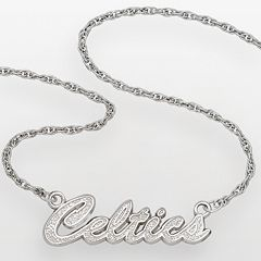 Boston Celtics Sterling Silver Script Necklace