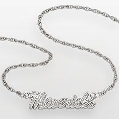 Dallas Mavericks Sterling Silver Script Necklace