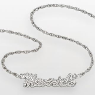 Dallas Mavericks Sterling Silver Script Necklace