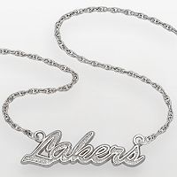 Los Angeles Lakers Sterling Silver Script Necklace