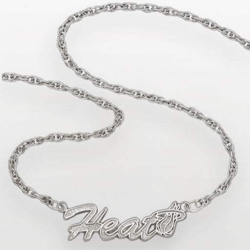 Miami Heat Sterling Silver Script Necklace
