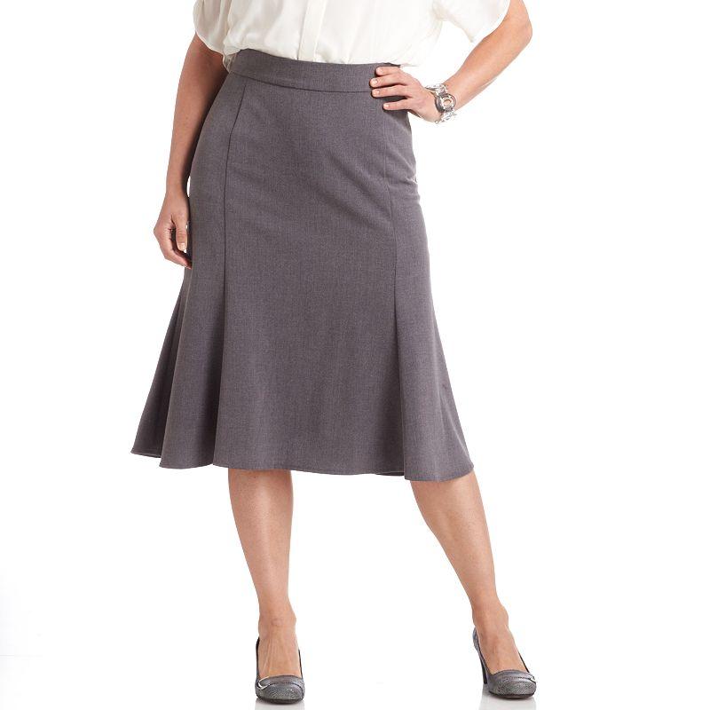 Sag Harbor Perfect Fit Gored Skirt - Women's Plus