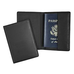 Royce Leather RFID-Blocking Passport Case