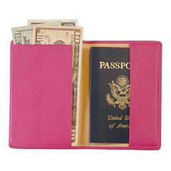 Royce Leather RFID-Blocking Passport Case