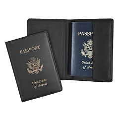Royce Leather RFID-Blocking Stamped Passport Case