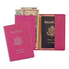 Royce Leather RFID-Blocking Stamped Passport Case