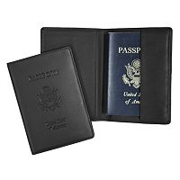 Royce Leather RFID-Blocking Debossed Passport Case