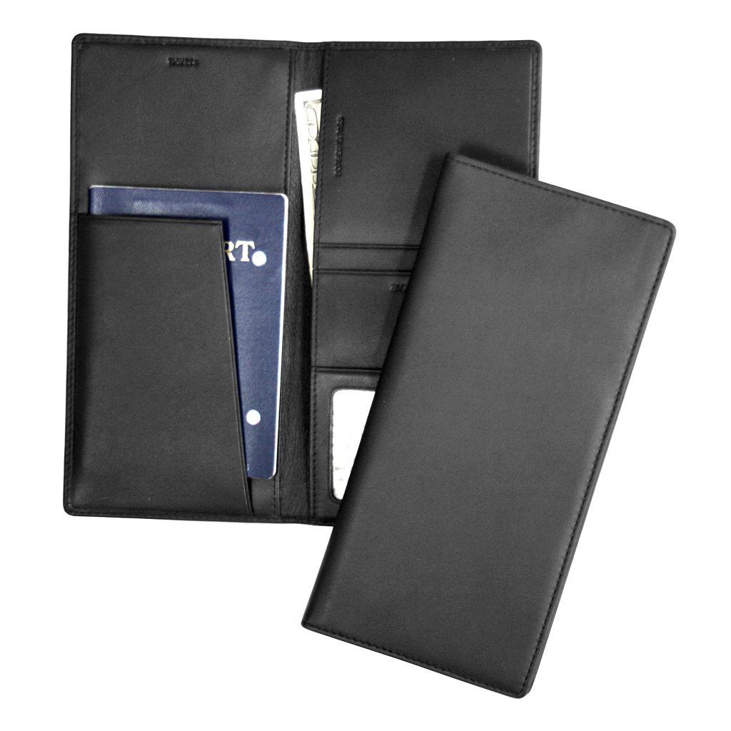 Royce Leather RFID-Blocking Passport Case & Ticket Holder