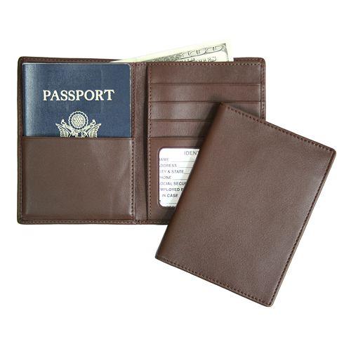 Royce Leather RFID-Blocking Passport Case & Wallet