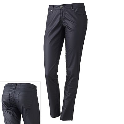Celebrity Blues Coated Skinny Pants - Juniors