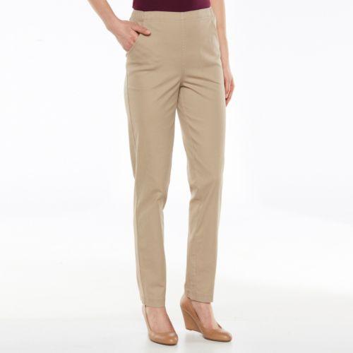 Croft & Barrow® Pull-On Straight-Leg Pants - Women's