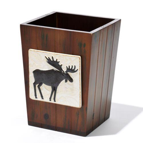 Bacova Christmas Woodlands Wastebasket